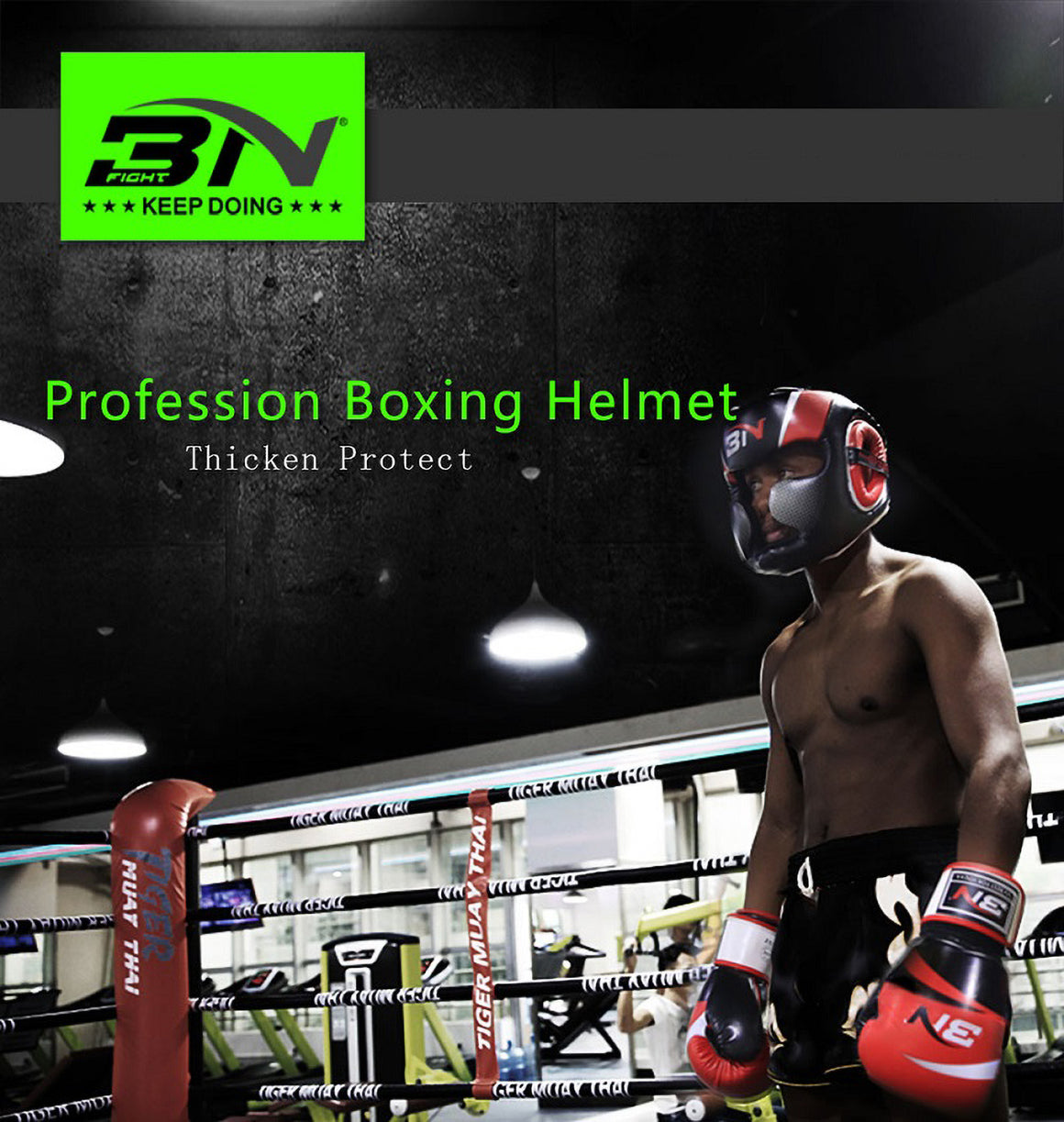 BN Boxing Headgear Men Women Muay Thai PU Leather Training Sparring Gym Equipment Grant Safe Boxing Helmet Taekwondo Guard