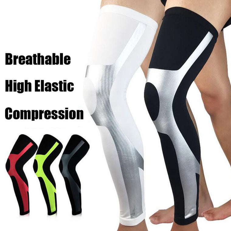 1Pc Unisex Compression Cycling Leg Warmer Leggings Running Tights Sport Leg Sleeve Soccer Basketball Knee Pad Football Shinguard