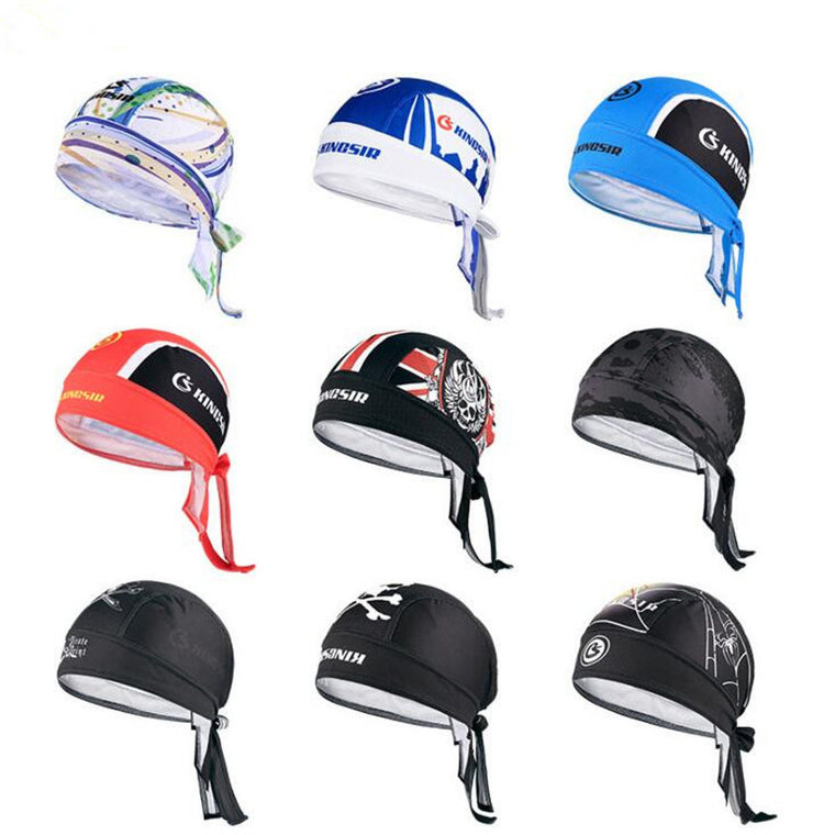 Sport Multifunctional Skeleton Pirate Cap Bandana Anti-sweat UV Headwear Men women's hats Bicycle Cycling Cap Scarf M122