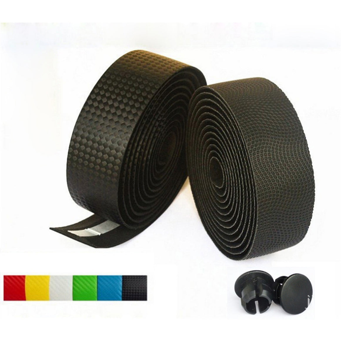 3M Road Carbon fiber Bike HandleBar Tape Cycling Race Bicycle Grips MTB Cork Handlebar Tape +2 Bar Plugs Mountain belt straps