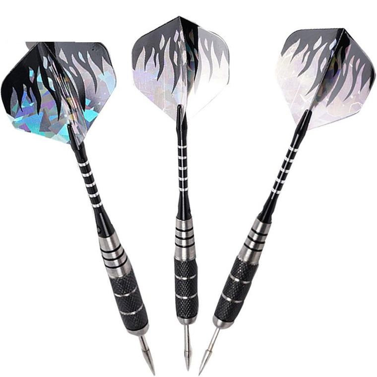 3pcs/Set Professional Tungsten Steel Needle Tip Darts With Dart Flights Sports ZH01124
