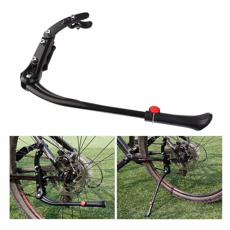 Bicycle Parking Rack 24'-29'' Bike Kickstand Adjustable Mountain Bike Cycle Prop Side Rear Kick Stand Bicycle Accessories