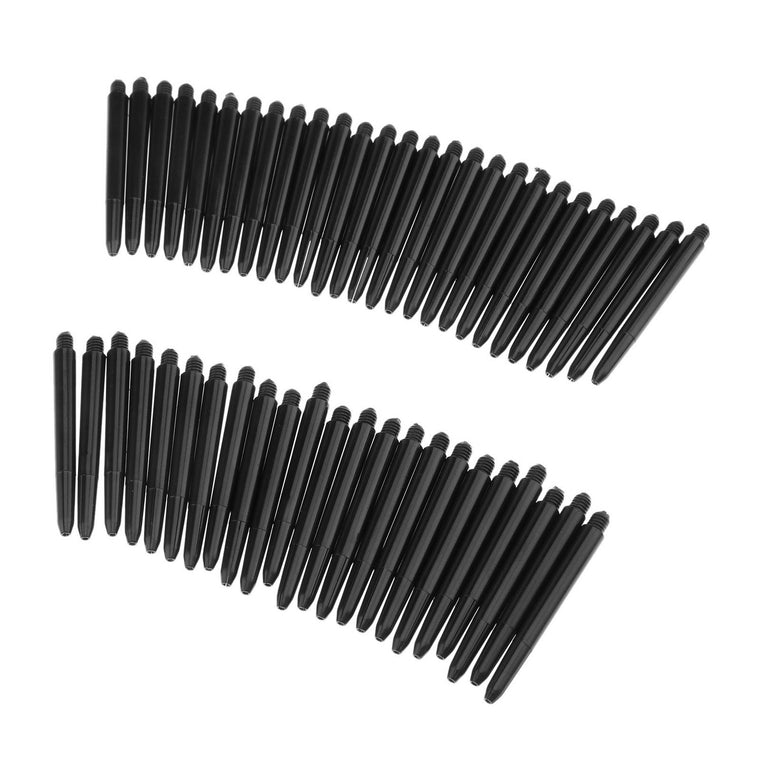 Black 50pcs/lot Nylon Dart Shafts 2BA 48mm Screw Thread Plastic Darts Rod Stems Darts Accessories for Standard 2BA screw thread
