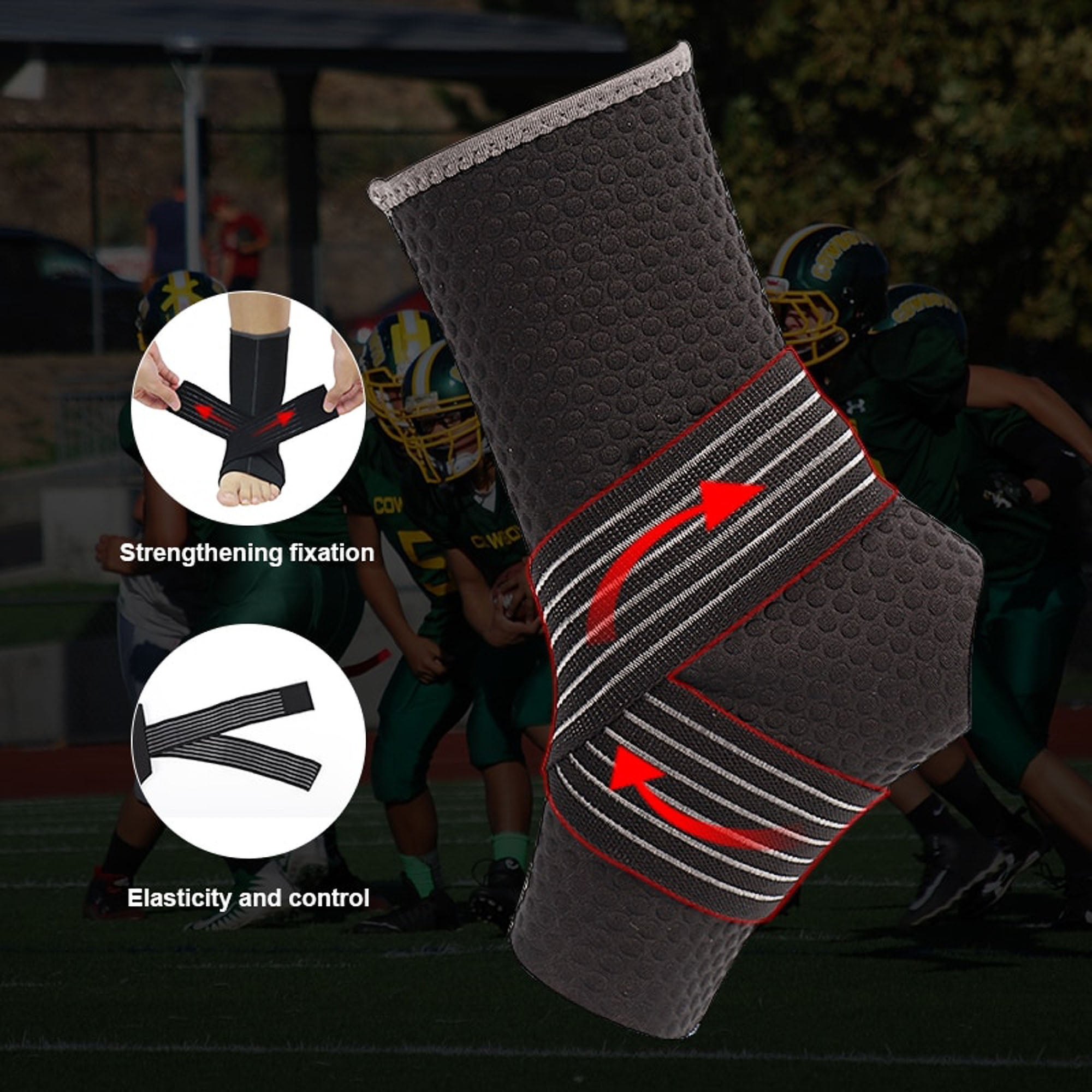 Breathable Elastic Ankle Brace Protector Adjustable Bandage Ankle Pad for sports