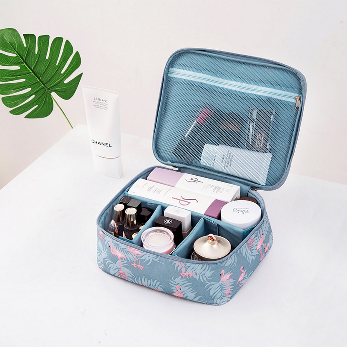 Brand Flamingo Series Travel Portable Cosmetic Bag, DIY Organizer Makeup Bag For Women Cosmetics Men Shaving Kit,Free Shipping