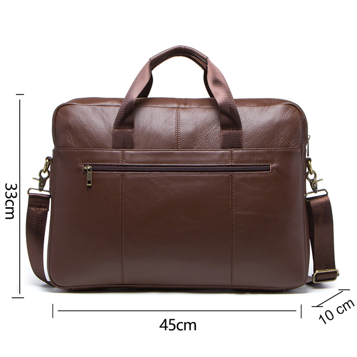 "CONTACT'S Genuine Leather Male Messenger Bag For 15.6"" Laptop Men's Crossbody Bags Large Business Shoulder Bag For Man Briefcase"