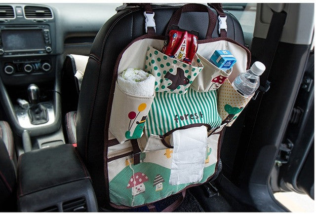 Cartoon Baby Diaper Bags for Mom Baby Travel Nappy Handbags Travel Bag Organizer Baby Car Seat Storage Bag Seat Hanging Bag
