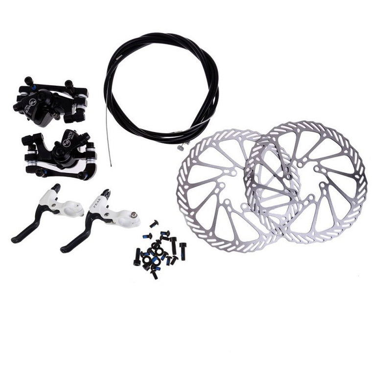 Cycling Bicycle Disc Brakes Set Kit G3 Rotors 160mm Brake Levers Cable(option) Ultra-light Aluminum Single Adjustable Disc Brake