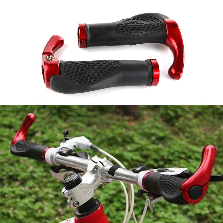 Cycling Grips Mountain Bike Handle Rubber grips of Bilateral Lockable anti-skid Ergonomics Bicycle Handlebar 5 Colors