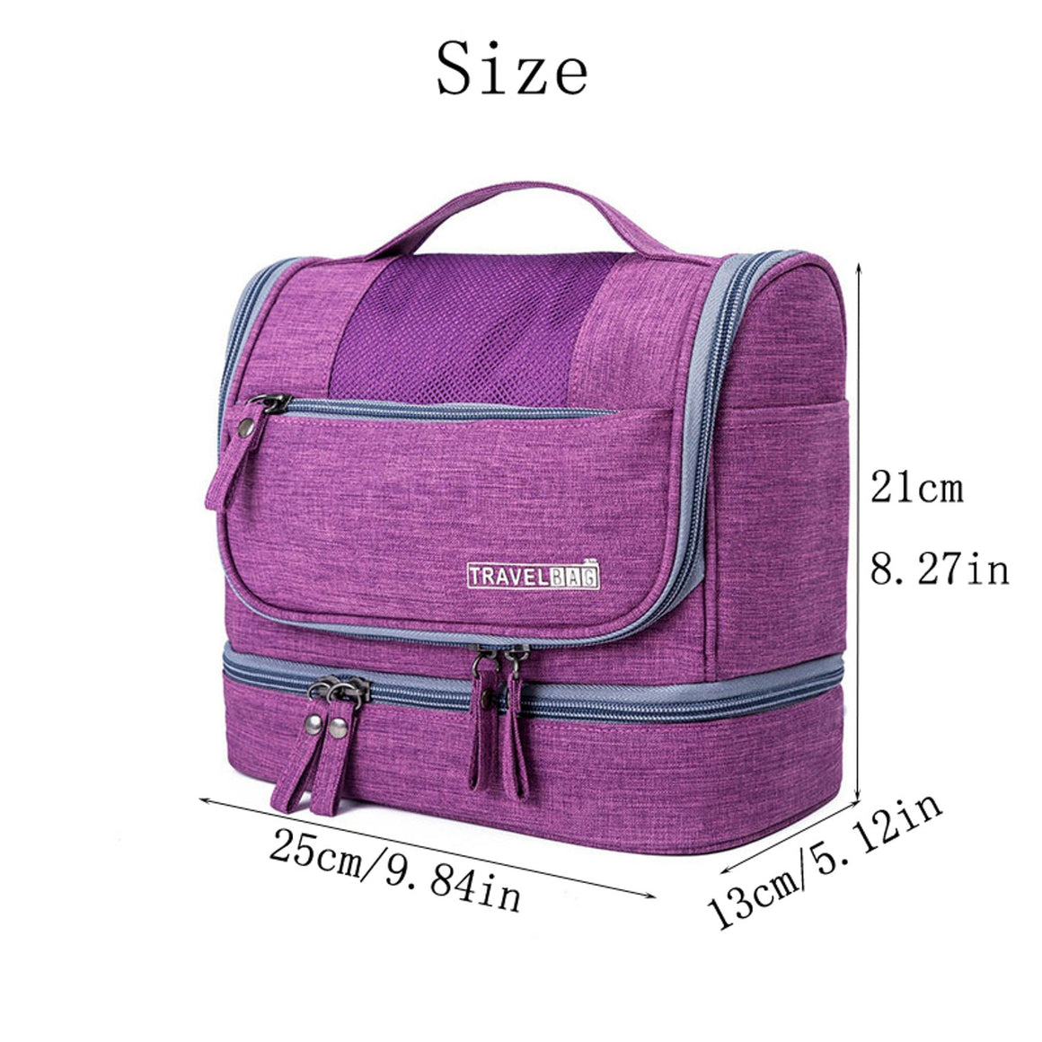 Designer Hanging Toiletry Bag Travel Cosmetics Bag Waterproof Oxford Organizer for Travel Accessories Toiletry Kit for Men Women