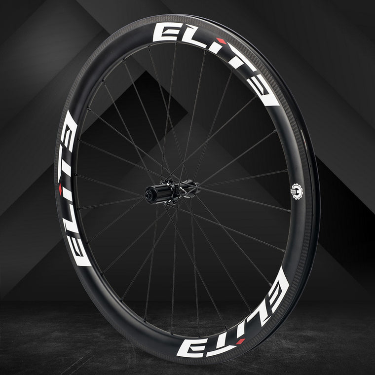 Elite FLR carbon fiber road bike wheel 25/27mm Rim Tubular Clincher Tubeless 700c Wheelset with Straight Pull Low Resistance Hub