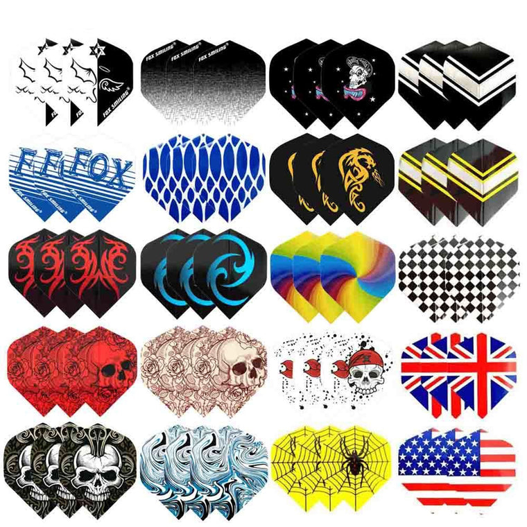 Fox Smiling Dart Flights Set 60PCS Multiple Styles Colorful PET Darts Flights Professional Darts Newly Dart Accessories