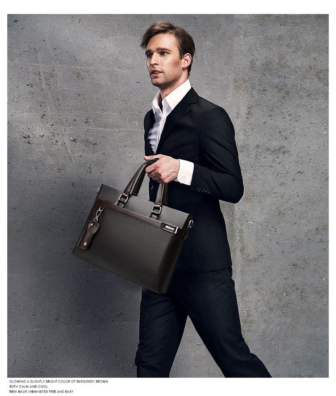 men Business Briefcase men shoulder bag casual bag luxury Design business male bag handbag casual Laptop computer large capacity