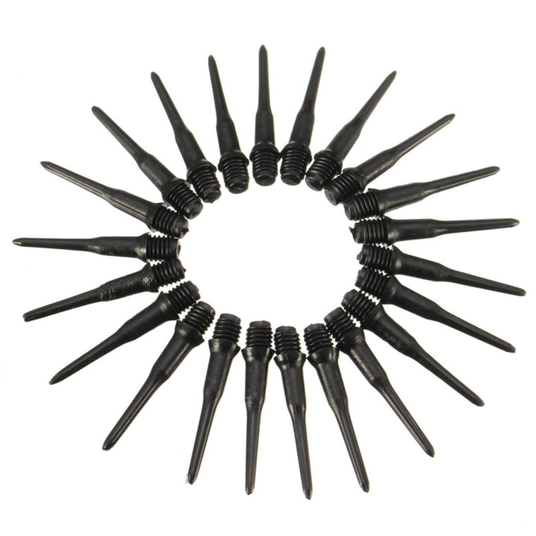 Hot Sale 100Pcs/lot 27mm Darts Shafts Soft Tips Pipe Professional Black Plastic Thread Replacement Accessories Dart Gadgets