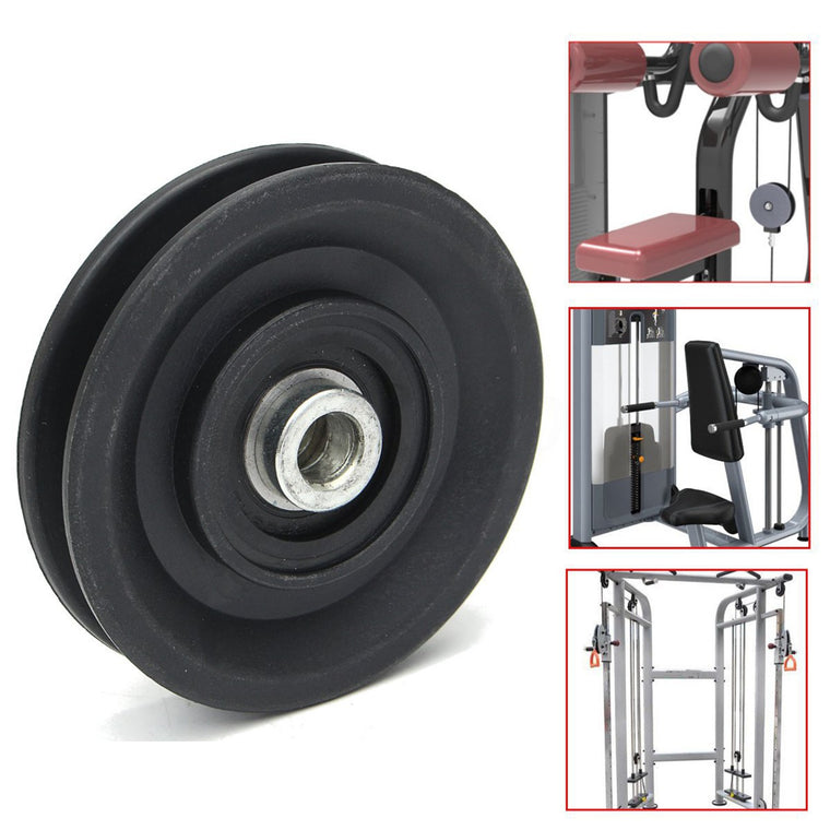 MAYITR High Quality Bearing Pulley 90mm Wearproof Nylon Bearing Pulley Wheel Cable Gym Universal Fitness Equipment Part