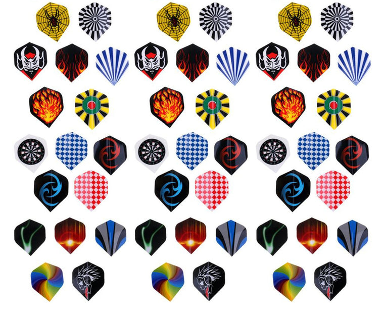 MagiDeal 60 Pieces (3 Sets) Standard Dart Flights Professional Durable PET Plastic Darts Flights Colorful Dart Flights