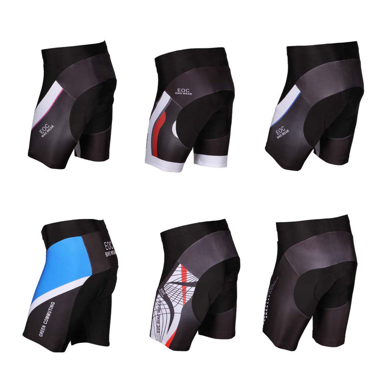SOBIKE Mens Bicycle Riding Cycling Shorts Soft Padded Pants Red Cooree S to 3XL