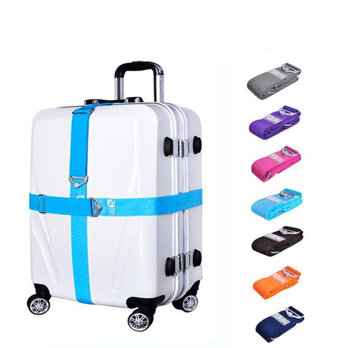 OKOKC Luggage Strap Travel Accessories Suitcase Belt Trolley Adjustable Compartment Luggage Straps 168cm