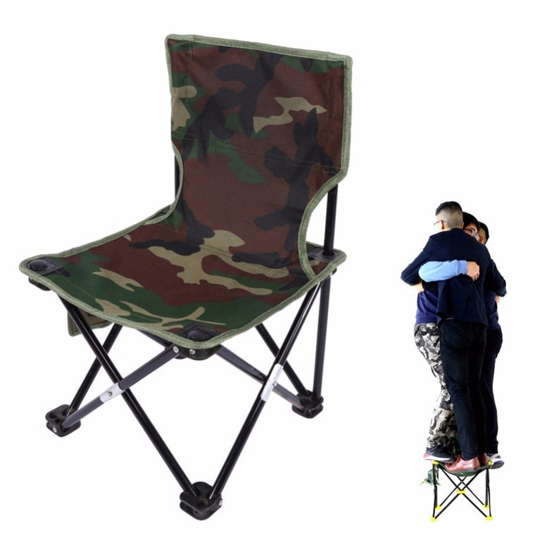 Outdoor Fishing Chair Camouflage Folding Chair Camping Hiking Chair Beach Picnic Rest Seat Stool 33 x 33 x 53cm