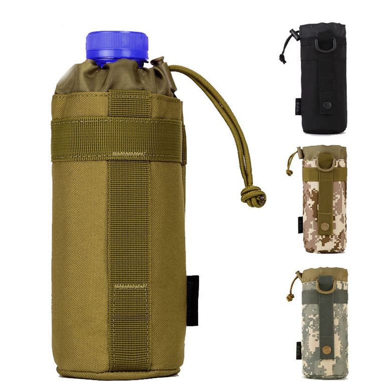 Protector Plus 550ml Water Bottle Pouch, Tactical Molle Kettle Pouch Pocket, Water Bottle Holder Army Gear Bag 4 Colors