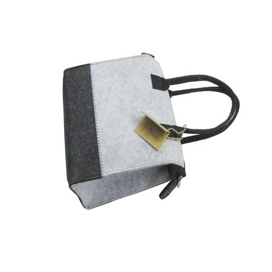 Sight focus grey felt cosmetic makeup bag custom beauty cosmetic bag small bag travel portable makeup bag with logo printing