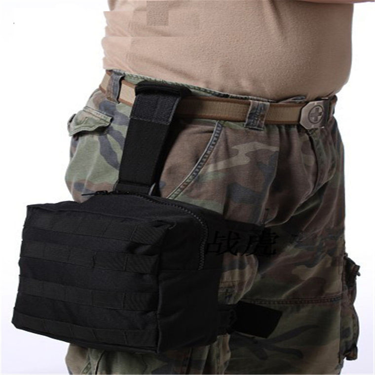 Tactical Drop Leg Pouch Panel MOLLE EDC Utility Gadget Pouch Bag Fanny Thigh Pack Versipack for Outdoor Hiking Cycling Hunting