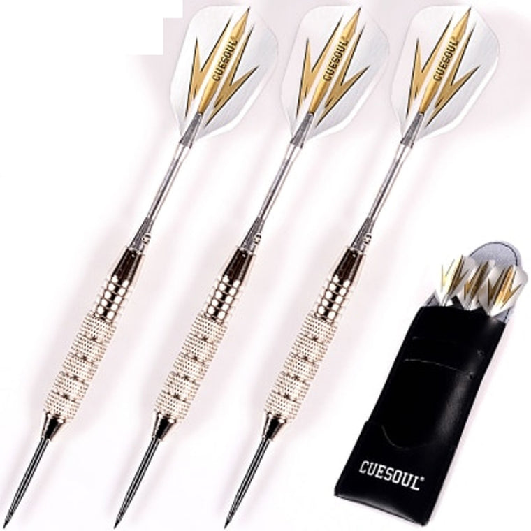 New CUESOUL 3pcs/set Professional Darts 24g 25g Black Golden Color Steel Tip Darts With Aluminum Darts Shafts