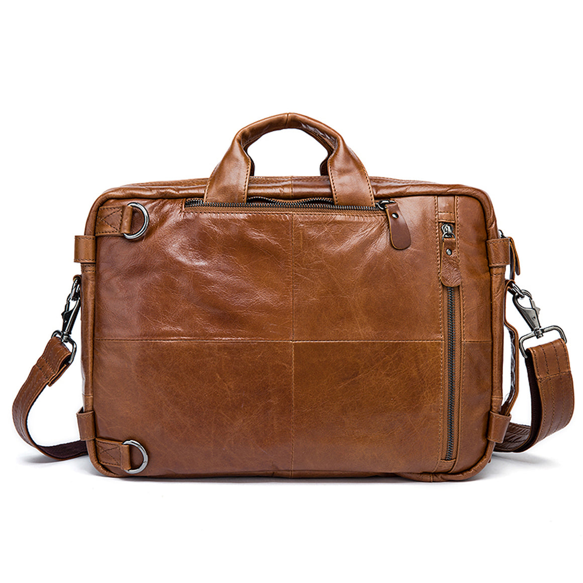 WESTAL Men's Briefcase Tote men messenger bag travel laptop bag for men document business Leather briefcase male Genuine leather