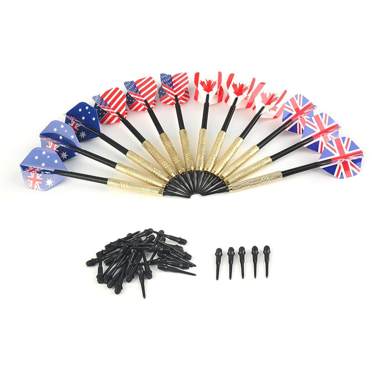 With 36 Extra Tips 12 Pcs Plastic Soft Tip Darts Four Kind Nice Flights Set Tips Needle Replacement For Electronic Dart
