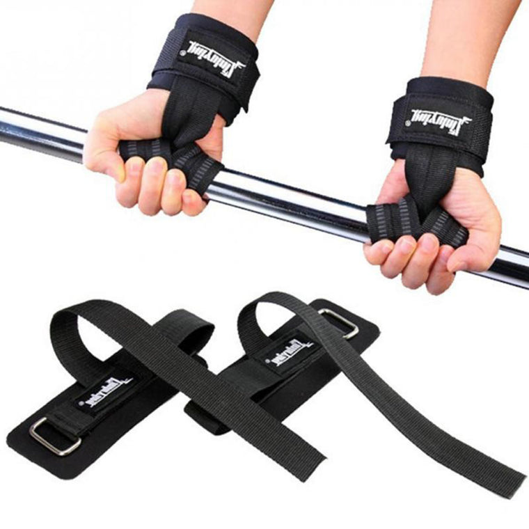 a pair Sport Weightlifting Pull Strap Gym Power Training Powerlifting Wristbands Belt Straps