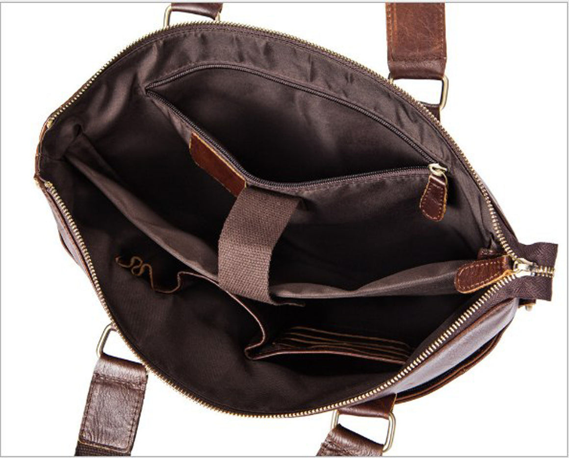 "male messenger bag men genuine leather briefcase man Casual bag for 14"" laptop man's handbag shoulder messenger bags Briefcase"