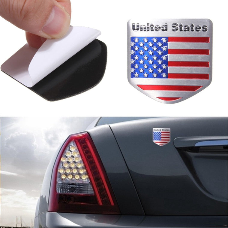 US USA American Flag Bicycle Stickers Metal Auto Refitting Car Badge Emblem Decal Sticker New Arrival