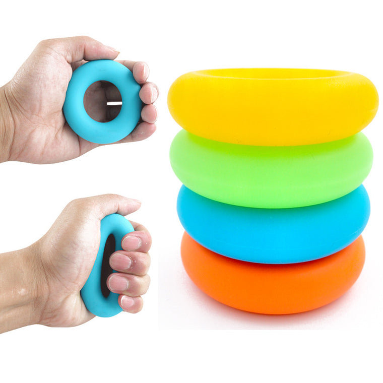 New Arrival Hand Grips Muscle Power Training Green Rubber Ring Exerciser  Finger Hand Grip Easy Carry Hand Gripper Gripping Ring
