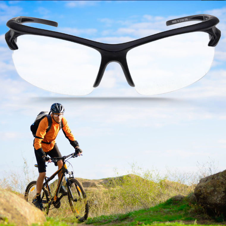 New Sport Outdoor Riding Cycling Uv400 Protection Sunglasses Transparent Free shipping