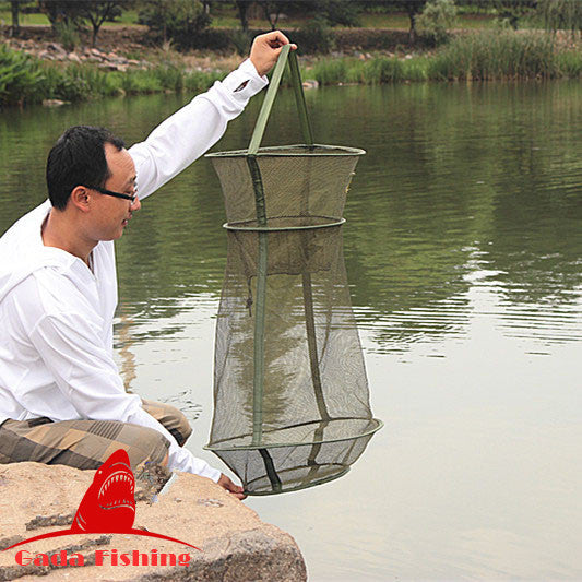Hot Sale 4Size 3 Layer Portable Fishing Net Fish Shrimp Mesh Cage Cast Net Fishing Trap Network Foldable Fishing Nets Tackle