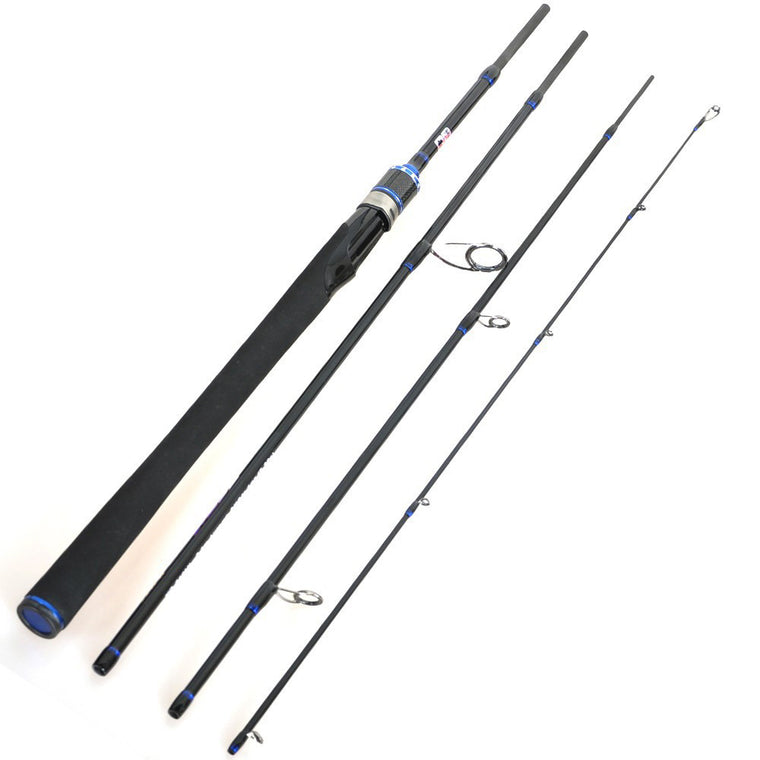 2.1m 2.4m 2.7m Fishing Rod Carbon Spinning Fishing Rod Vara De Pesca 4-section Medium Carp Fishing Pesca Lure Rod Olta