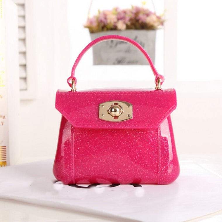 Lady Handbags Summer Beach Bag Candy Color Mini Jelly Bag Girl Purses Transparent Shoulder Crossbody Bag Clutch Bolsas Feminina