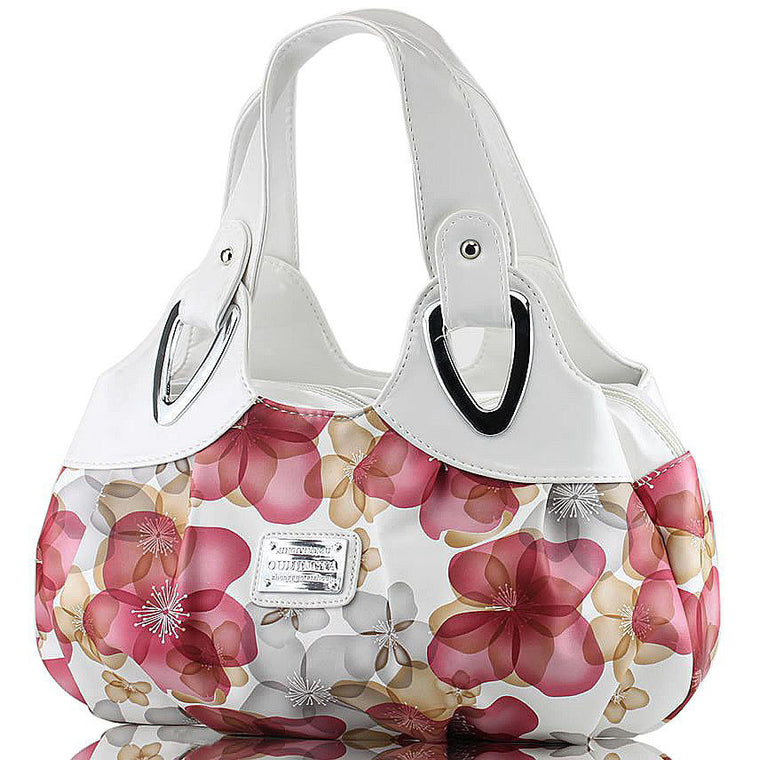 Fashion handbag beautiful Women PU leather Bag Tote Bag Printing Flower Handbags six style Satchel drop D30