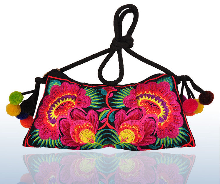 Hot wholesale sale design Embroidered bags national trend handmade embroidered messenger bag embroidery