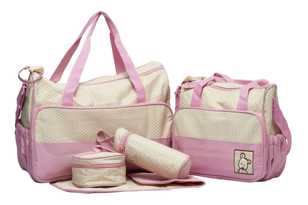 5pcs/set Aardman Hot Selling diaper baby bags cheap,Mummy bag,baby travel bag