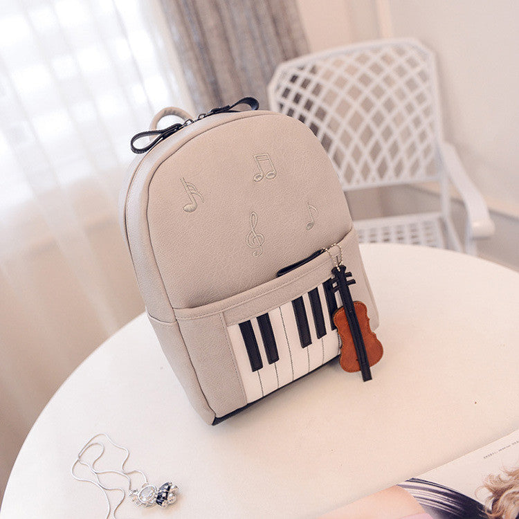 New Fashion Piano Musical Printing Backpack Casual Backpacks for Teenage Girls Travel Students School Rucksack Mochilas