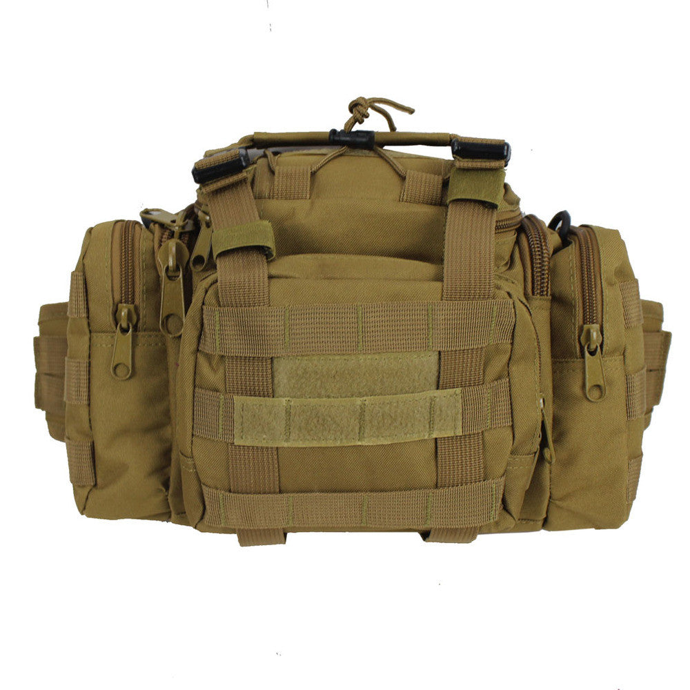 Men's Military Multipurpose Nylon Travel Shoulder Crossbody Messenger Camera Saddle Bag Fanny Pack Waist Bag