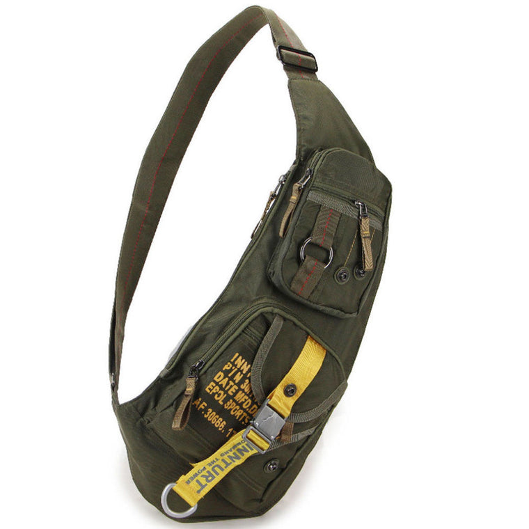 Nylon Men Sling Chest Back Bag Satchel Travel Climb Military Waterproof Cross Body Messenger Shoulder Pack