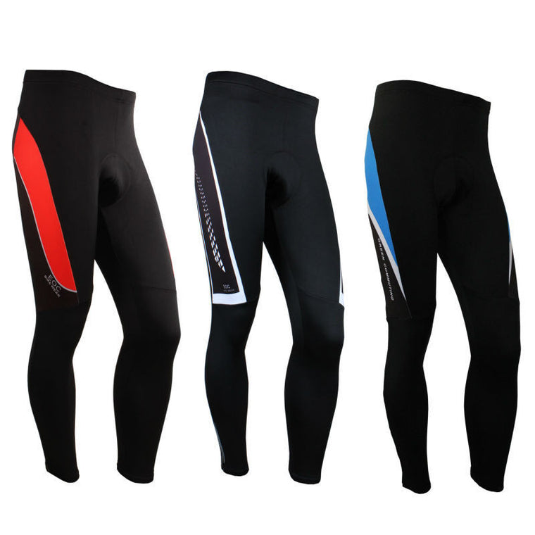 New Men's Fleece Thermal Cycling Pants Padded Outdoor Sports Tights Winter  Bike Bicycle Trousers 3 Color