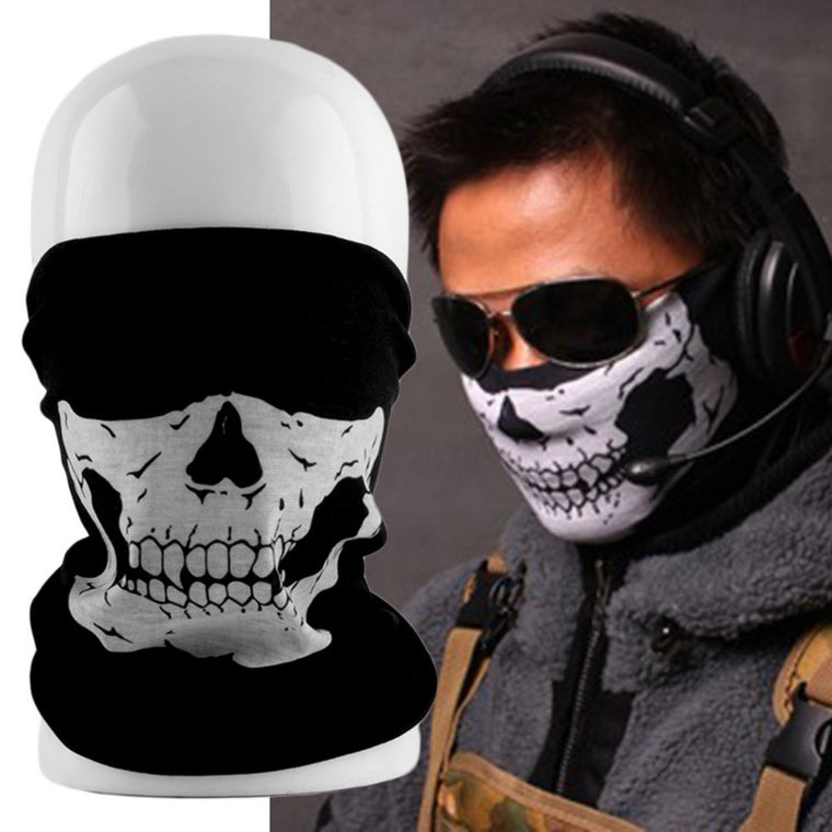Tubular Skull Ghosts Ghost Mask Bandana Motor bike Sport Scarf Neck Warmer Winter Halloween For Motorcycle free shiping