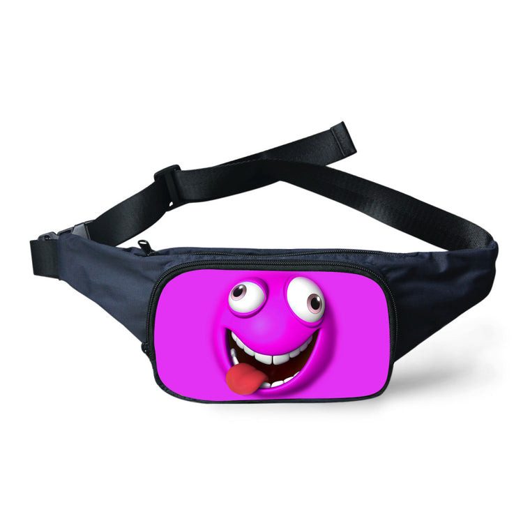 FORUDESIGNS Funny Emoji Printed Waist Bag For Women Cute Smile Girl Fanny Pack Fashion Waterproof Belt Waist Pack Military Bags