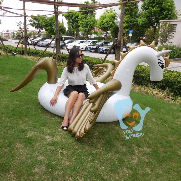 2.5m 98inch Giant Pool Floats Inflatable Horse Pegasus Swimming Float Ride-on Beach Toys Water Fun Mattress Boia Piscina