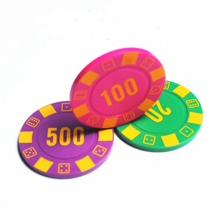 Luxury mahjong machine 4 g ABS club dedicated Texas Hold'em chips currency cards custom wholesale