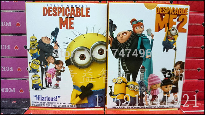 54pcs/set paper collective comic moive Despicable Me poker card celebrity playing cards