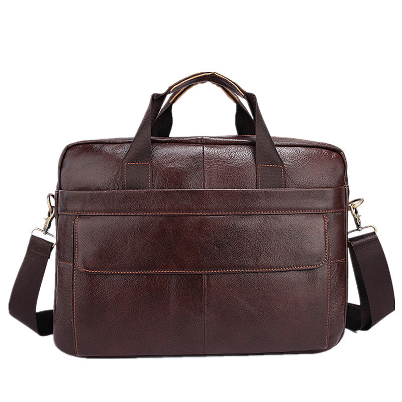 Famous Brand Genuine Cowhide Leather Mens Business Briefcase Laptop Bags Men's Travel Bag Portfolio Men Shoulder Bag Man Handbag